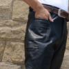 真皮整皮皮裤真皮长裤男