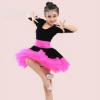 儿童拉丁舞裙演出服装女童长袖连衣裙