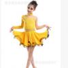 新款儿童拉丁舞裙蕾丝长袖练功服