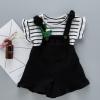 韩版女童背带裤套装儿童短袖套装