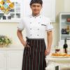 夏季短袖厨师工作服