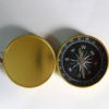 高档金色铝材指南针 带盖指南针