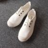 2017夏季韩国出口贝壳头布鞋软底开车鞋水洗做旧文艺清新布鞋潮