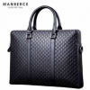 曼伯斯男士公文包真皮电脑包横款手提包