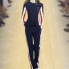 2017秋装欧洲站时尚休闲运动套装撞色条纹外套长袖上衣长裤两件套