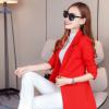 新款韩版中长款小西装女修身女式西服