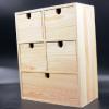 环保桌面多层抽屉式化妆品收纳箱木质家居用品