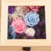 永生花花盒永生花玻璃盖花卉木盒