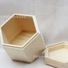 创意六边形木盒包装盒 定制高档饰品包装首饰盒