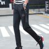 2017夏季薄款运动裤男士休闲长裤子男式时尚直筒青少年学生针织潮