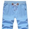 夏季男装休闲短裤男士修身直筒5分五分裤韩版纯棉沙滩裤薄款中裤
