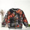 2017童装秋季新款 拉链开衫上衣 韩版加绒长袖儿童外套夹克衫厂家
