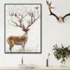 创意北欧装饰画鹿现代简约单副餐厅客厅背景墙壁画玄关挂画