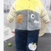 婴赞儿童秋冬棉衣套装宝宝加厚纯棉套装冬装水晶绒面料套装1-3岁