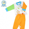 童装套装春秋时尚长袖纯棉立领开扣卡通0-2岁宝宝舒适纯色内衣