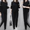 欧洲站2017秋季新款女装时尚针织两件套宽松休闲显瘦运动套装女