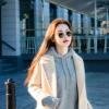 雾霾蓝毛呢大衣女秋冬季中长款韩国2017新款呢子学院风茧型外套