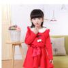 童装女童连衣裙 儿童公主长袖裙子 2017秋冬新款加绒加厚韩版裙子