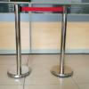不锈钢安全护栏杆一米线隔离带栏杆座 排队柱 警戒围栏 2米伸缩带