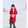 新款韩版轻薄长款女童羽绒棉服 江西儿童棉服批发 童装羽绒棉服中