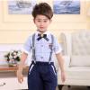 新款儿童演出服装背带裤幼儿园男女童大合唱六一表演服