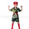 儿童军装舞蹈演出服中小学生男童女童军训迷彩服表演服套装批发
