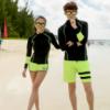 2017新款 长袖 情侣 游泳衣沙滩装女款三件套