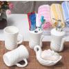 创意骨瓷卫浴五件套装陶瓷浴室套件洗漱牙具用品