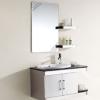 【批发供应】高品质挂墙式不锈钢浴室柜 玻璃台面洗手盆组合柜