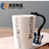 新款音乐钢琴杯子 创意水杯 陶瓷杯子马克杯定制LOGO外贸出口水杯