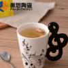 新款音乐音符杯子 创意水杯 陶瓷杯子马克杯定制LOGO外贸出口水杯