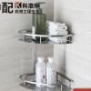 产地货源304不锈钢浴室置物架壁挂双层卫生间三角置物架厂家直销