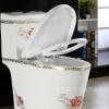 新款超强冲水彩色马桶静音节水彩金坐便器防臭彩色座便器陶瓷马桶