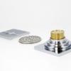 4寸方形防虫防蟑螂厨房卫生间浴室用全铜镀铬水封防臭式地漏批发