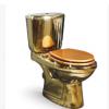 酒店金色分体马桶 墙排180mm分体坐便器 金色马桶直冲浴室坐厕