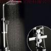 厂家直销 方形淋浴花洒套餐 花洒大顶喷出水 增压升降淋浴花洒