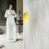 亚麻粘竹节加厚皱布 秋冬砂洗肌理素色绉布 麻棉混纺竹节面料