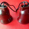锦鸿泰原厂直销韩式密封红木防水灯头大向口E27通用螺口滴胶灯座