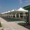 定做大型停车场停车棚 冒顶型膜结构汽车棚 工厂园区轿车停车篷
