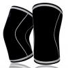 厂家定做健身举重深蹲运动护膝 耐磨举重运动加压护膝盖 SBR7MM