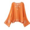 欧美夏季开衫上衣海报款度假风刺绣和服防晒衫女外套衫dw8808#