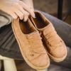 2018秋季平底单鞋女软底绒面百搭休闲鞋学生潮韩版女鞋舒适孕妇鞋