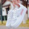 韩版2018新款百搭学生透气网面休闲小白鞋白色跑步运动鞋女批发