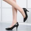 2018现货浅口单鞋 真皮高跟细跟绑带低帮鞋通勤工作鞋尖头50178