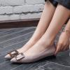 2018春季时尚方扣低跟女单鞋低跟粗跟尖头女鞋