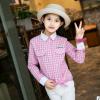 夏装2017春秋新款女童格子衬衫女大童长袖衬衣儿童装韩版打底衬衫