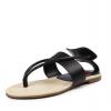夹脚凉鞋女平底欧美新款真皮平跟时尚黑色夹趾夏季牛皮鞋厂家直销