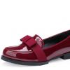新款欧美真皮鞋女鞋蝴蝶结低跟休闲单鞋女东莞厂家OEM贴牌加工