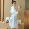 2018夏韩版中长款大码七分袖空调衫薄外套雪纺开衫披肩防晒衫女
