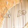 百界欧式铁艺摆件钻石三件套 婚庆道具装饰吊顶婚礼桌花园艺花器